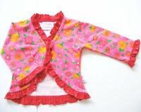 Sweat Jacke Gr.62 Puk Design NEU pink rot volants blumen punkte baby