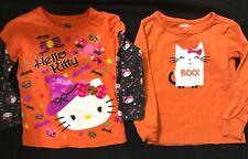 2 pc Lot Halloween Wear girls Gymboree Pajama Top Hello Kitty sparkles Cute Mom!