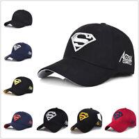 Men's Fashion Superman Baseball Cap Outdoor Sunscreen Cap Wild Leisure Visor Hat