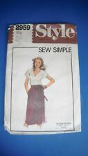 Style Miss sewing pattern 2959 wrap skirt Sz. 12 &14 Cut