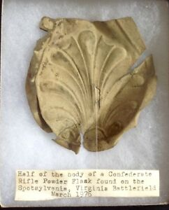 Civil War Era Half of a Rifle Powder Flask ( Confederate  Relic)