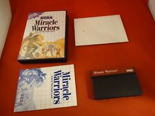 Miracle Warriors: Seal of the Dark Lord Sega Master System 1988 COMPLETE wMap L1