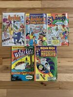 5 Comics lot Archie # 600, Whiz Kids, Richie Rich, The Proposal Betty Veronica