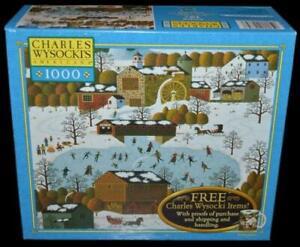 NEW SEALED CHARLES WYSOCKI MILTON BRADLEY 1000 PIECE PUZZLE CHESTNUT VALLEY