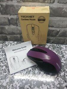 🖱TeckNet Pro 2.4G Ergonomic Wireless Optical Mouse with USB Nano Receiver NIB