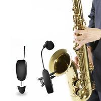 Microfono professionale wireless Mic System UHF per sassofono Sax tromba flauto