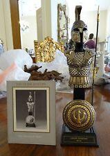 Franklin Mint Greek Spartan Warrior 24k Gold Wash Pewter Armor & Display w/ Coa