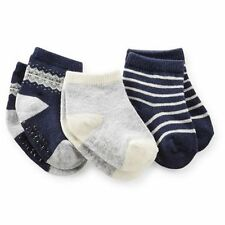 New Carter's 3 Pack Socks 3-12m NWT Forest Friends Fair Isle Navy Blue Gray Boy