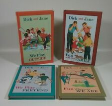 DICK AND JANE Book Lot (4) Brand New Reprinted Classic Beginning Reader Books