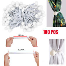 100pcs 15cm Elastic Bungee Cords Ball Bungees Loop Cord Wire Fix Tie Down Tent