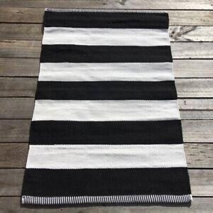 Waterproof Outdoor Polypropylene Small Mat - B&W Deck Stripe - @ $80/each