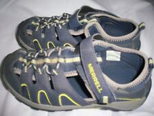 *MERRELL* Leather SANDALS SHOES Aqua Water Play Sand Hike kids child 1 Wide EC