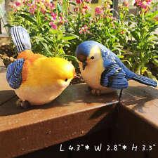 Resin Yard Garden Decoration Sculptural Little Birds Balcony Veranda Statues C