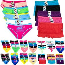 5 PC Womens Lace Bikini Hipster Boyshort Thong Seamless Brief Panties Underwear