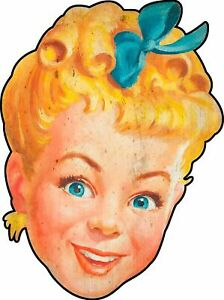 SUNBEAM BREAD YOUNG BLONDE GIRL LOGO HEAVY DUTY USA MADE METAL ADVERTISING SIGN
