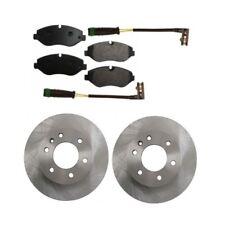 Mercedes Sprinter Dodge Freightliner Front Disc Rotors Brake Sensor Pad Set Kit