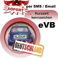 Überführungskennzeichen 5-Tagesversicherung PKW Deutschland eVB-Nummer