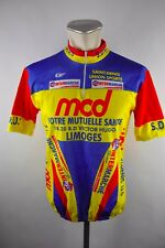 Vintage saint denis MCD Team bike Cycling Jersey maglia rueda camiseta talla XL 51cm s1
