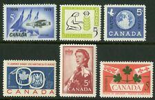 Canada   1959   Unitrade # 383-388   Complete Mint Never Hinged Year Set