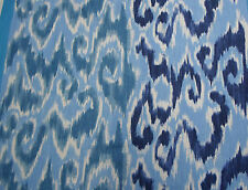 Designers Guild Curtain Fabric Sungadi 3.55m Indigo UZBEK Ikat Design Linen Mix