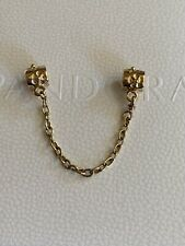 Genuine Pandora 14 Ct Gold Floral Safety Chain Solid Gold 750312 G585 ALE 5cm