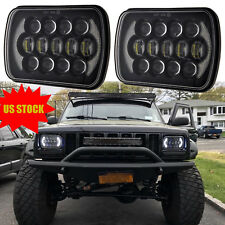 2PCS Black 5x7 7x6'' LED Projector Headlights Hi-Lo Beam for Jeep YJ Cherokee XJ