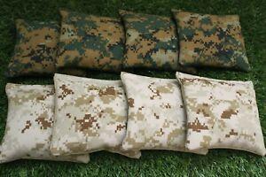 Cornhole Bean Bags Set of 8 ACA Regulation Bags USMC DIGITAL CAMO