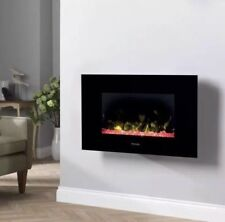 Dimplex Toluca Wall Mounted Electric Fire, 2kw UK - Brand New - Black