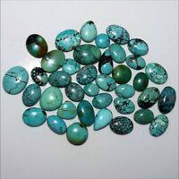 Natural Tibet Turquoise Mix Shape Cabochon Wholesale Lot Various Size & Quantity