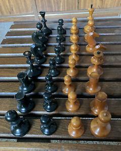 Vintage Valdai Nobels USSR Soviet Russian  Chess Set No Box No Board From Estate