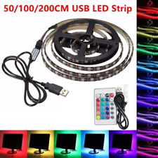 5V 5050 USB LED Strip Lights TV Back Light RGB Colour Changing with Remote