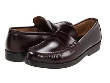 Boys Sperry Burgundy Penny Loafers Shoes Youth Size 3 NARROW !!!