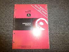 John Deere Model 1650 Backhoe Loader Owner Operator Maintenance Manual OMGA11291