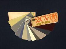 Rare Nuancier Colori Peinture 2CV AK AMI 6 CITROËN 1967 Colour Chart