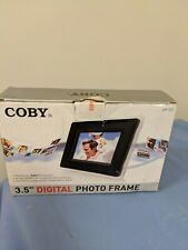"""Coby DP352 3.5"""" Digital Photo White and Black Frame NEW"""