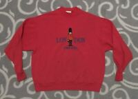 Vintage 80s London England 1980s Red Travel Crewneck Sweatshirt Size Large