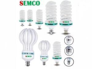semco 11w,18w,40w,85w,105w & 125w In B22,E27 and E14.white daylight energy saver