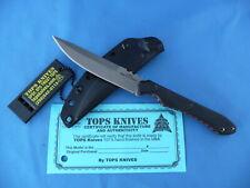 TOPS Rapid Strike Knife 154CM Stainless Steel Single Edge Kydex Sheath USA Made
