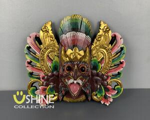 Exclusive Vintage Garuda Wall Mask,Antique Brown Mask,Balinese Barong Mask,Art