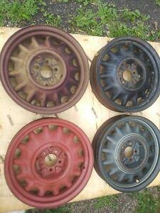 "Vintage 1935 - 1936 Chevy Standard 17"" Artillery Wheels."