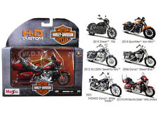 6PC HARLEY DAVIDSON MOTORCYCLE SET SERIES 34 1/18 BY MAISTO 31360-34