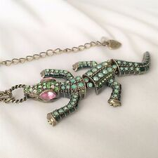 Betsey Johnson Alligator Pendant Necklace - Lovely!