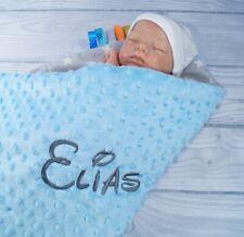 ?Zweilagige Decke  ? Babydecke mit Namen  ? Baumwolle ? 75 x 100 cm ? MINKY ?