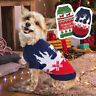 Christmas Holiday Warm Knit Dog Sweater Winter Coat Chihuahua Clothes Green Red