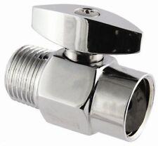 chrome SHOWERHEAD CONTROL VALVE SHOWER HEAD FLOW controller knob bath BRASSmetal