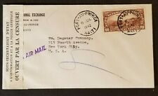 1942 Port Au Prince Haiti to New York City USA Censorship WWII Air Mail Cover