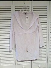NWT Women's J Valdi Pull Over Cover up Size L White Must have for Swim Closet