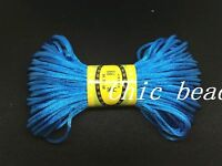 """20M""""1 Roll"""" Chinese Knot Satin Nylon Braided Cord Beading Rattail Cords 3mm hot"""