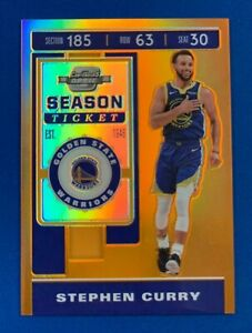 19-20 Contenders Optic # 32 STEPHEN CURRY Orange Prizm /49