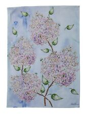 April Cornell Tea Towel Beautiful Blooms Collection NWT 100% Cotton Floral Blue